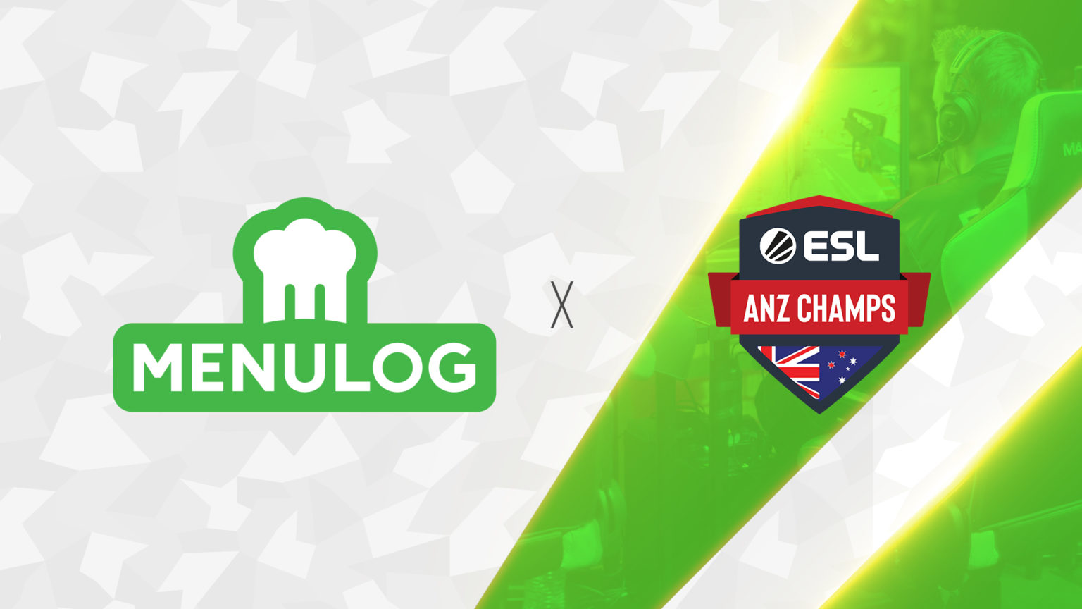 ESL ANZ Champs Logo and Menulog Logo Next To Each Other