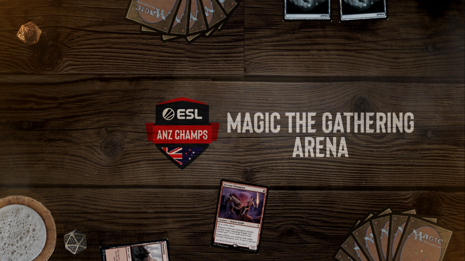 Magic The Gathering Arena Logo On ESL ANZ Champs
