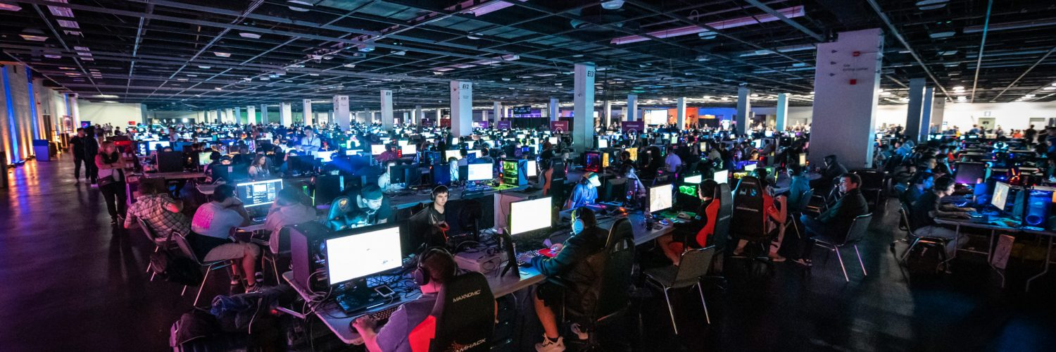 Part of the BYOC area at DreamHack Anaheim in February, 2020.