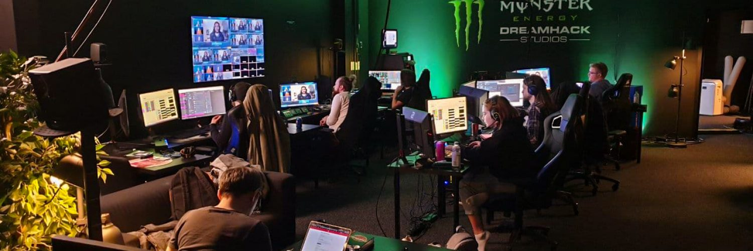 A glimpse of a remote production at the Monster Energy DreamHack Studios in Stockholm, Sweden.